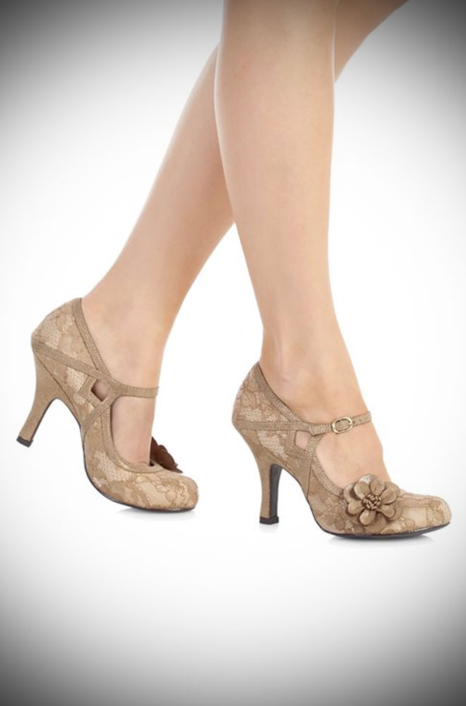Perfect for the party season, the Elsy shoes are all about the vintage glamour! By Ruby Shoo at Deadly is the Female