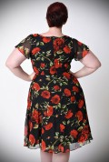 The Formosa dress is an oh-so pretty 1940s inspired tea dress in an elegant black floral print. Unique Vintage at UK stockists, Deadly is the Female.