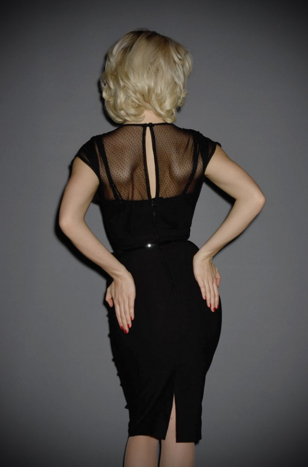 Twilight 40s pinup little black Film Noir Dress dress by Stop Staring UK stockists - Deadly is the Female