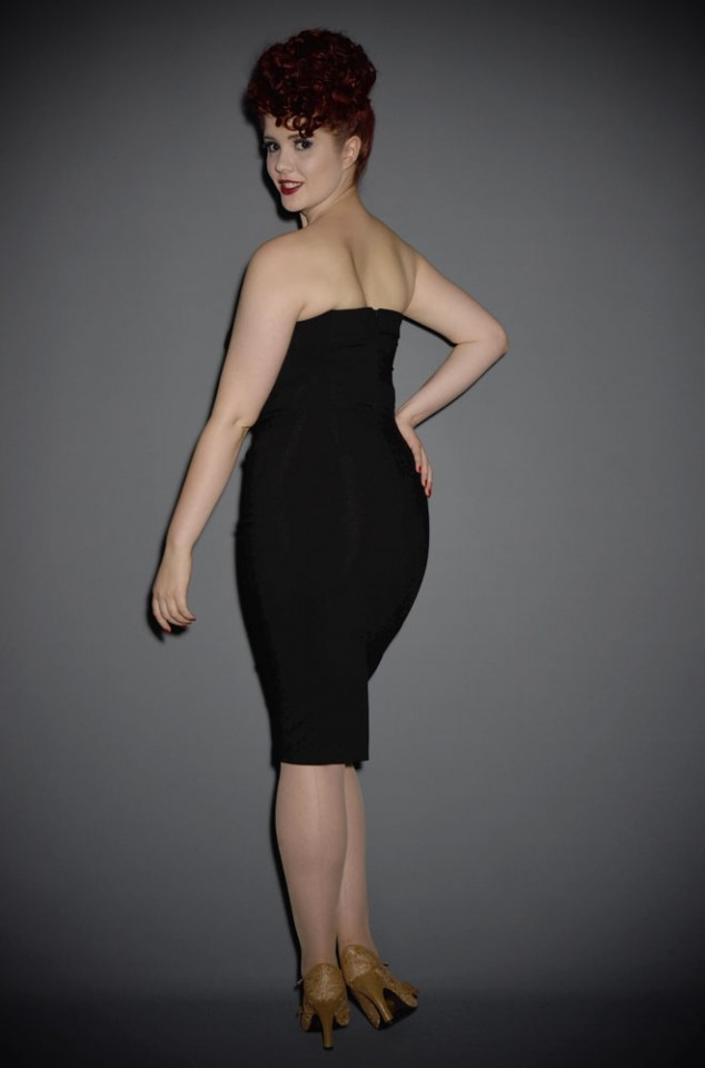 Palm Springs dress - a classic 50s inspired little black dress by the Pretty Dress Company at Deadly is the Female.