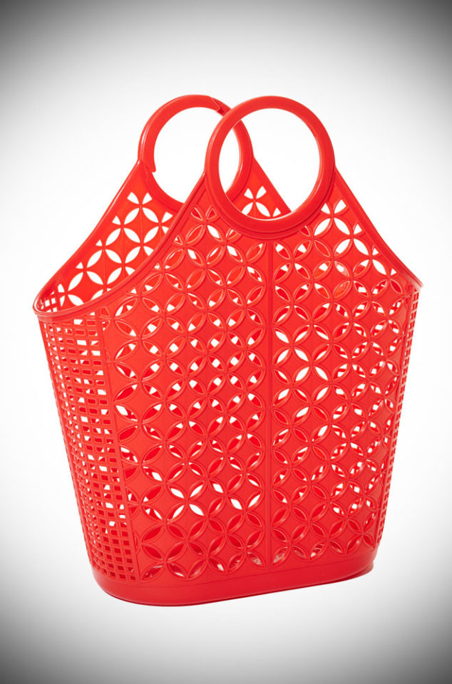 This Red Atomic Tote Bag features a striking star & circle design. A remake of a retro classic. Perfect for popping to the shops or beach.