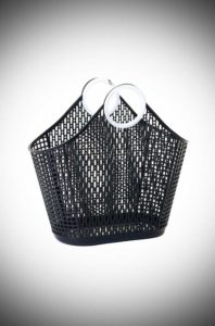 Black Fiesta Shopping Bag is a recyclableplastic bag. Aremake of a retro classic perfect for popping to the shops or beach.