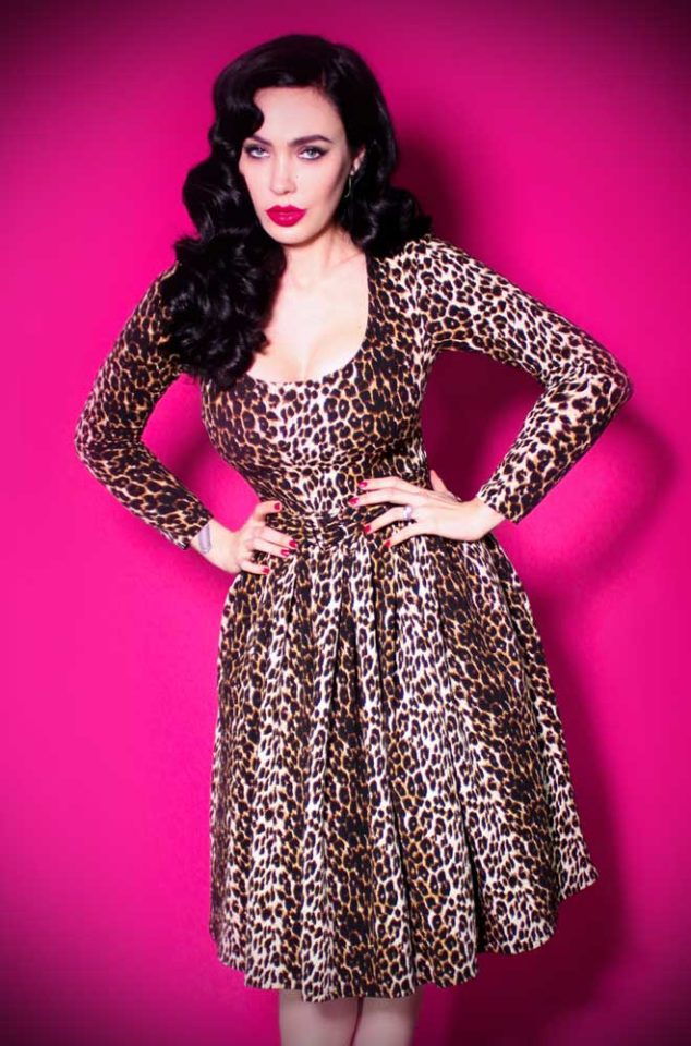 The Wild Vintage Leopard Vixen Swing Dress has arrived at Deadly, official UK stockists of Vixen by Micheline Pitt. Good things for bad girls.