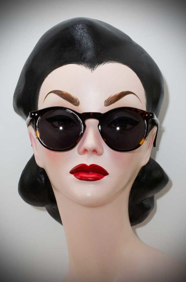 Vintage style Tortoiseshell Deco Sunglasses at Deadly is the Female. The perfect way to add some vintage glamour to your pinup look.