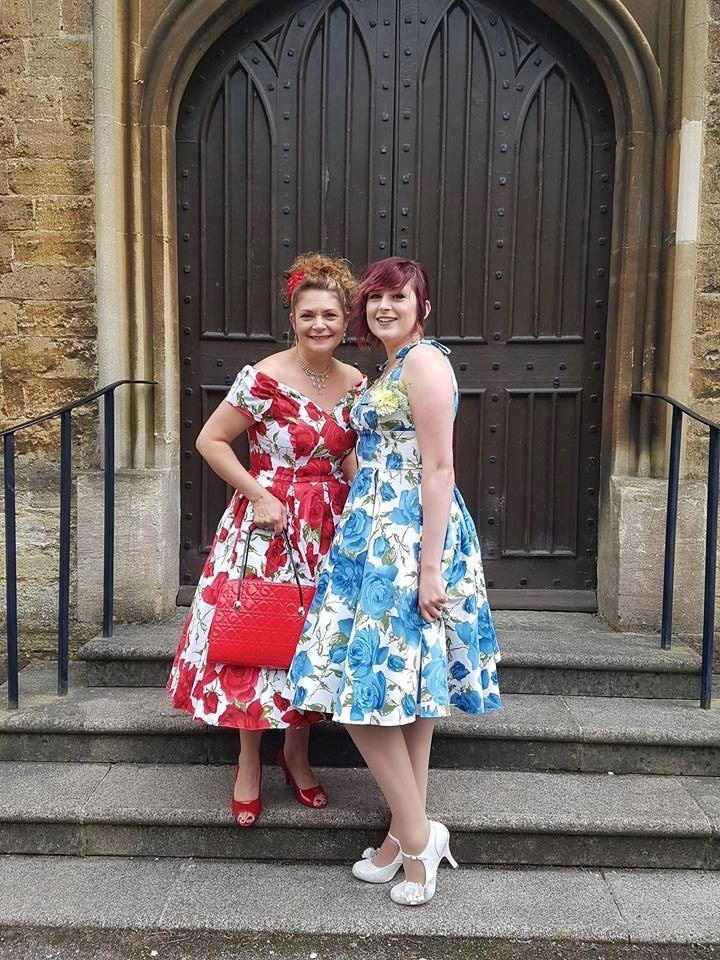 Customers of the Week Looking Beautiful in Floral Swing Dress!