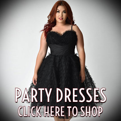 vintage style and pinup party dresses at Deadly is the Female
