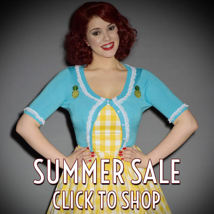 Summer Sale at Deadly is the Female featuring Pinup girl clothing, vixen by micheline pitt, stop staring, miss candyfloss, trashy diva, the pretty dress company and more