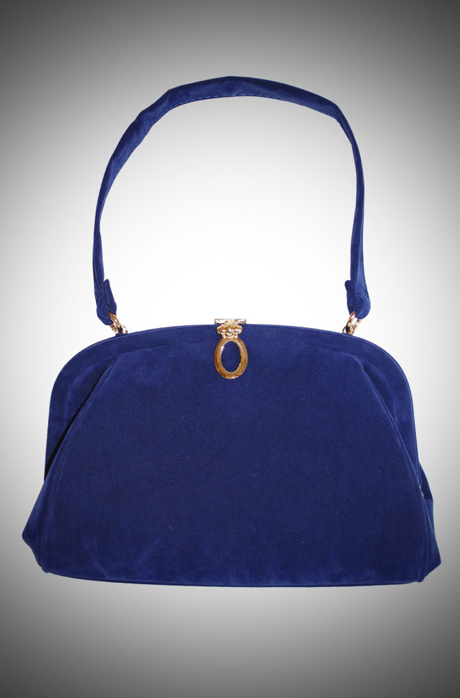 Vintage Style Evening Bag in Blue £70.00