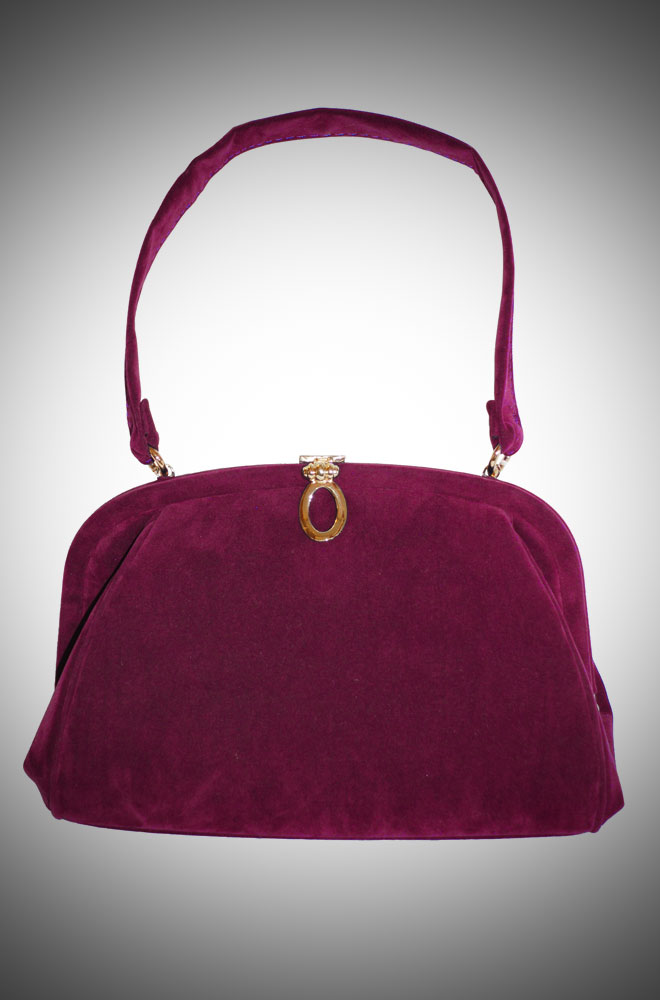 Vintage Style Evening Bag in Plum £70