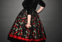 Pinup Girl Clothing UK stockists - Jenny skirt in Cherry Print