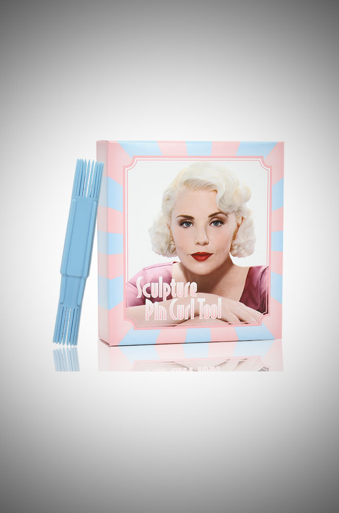 Vintage style Sculpture Pin Curl Tool Box Set