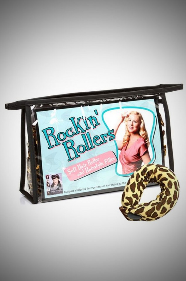 Rockin' Rollers Soft Leopard Print Hair Roller and Hairstyle Filler