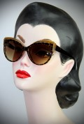 Tortoiseshell and Gold Thirties Cat Sunglasses at Deadly is the Female