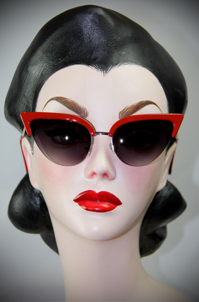 Thunderbird Sunglasses in Red50s Style Thunderbird Red Cat Eye Sunglasses at Deadly is the Female