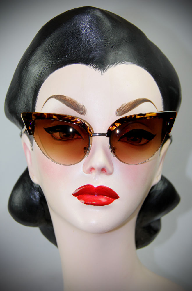 Thunderbird Tortoiseshell Cat Eye Sunglasses - 50's style shades at Deadly is the Female