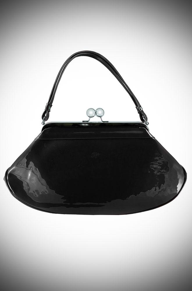 50s style Love Boat Bag in Black