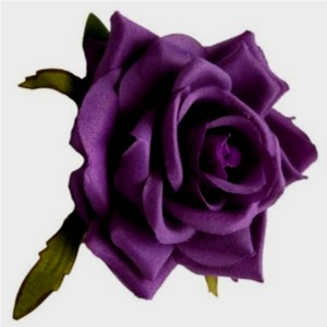 Deep Plum Vintage Style Rose - perfect for pin up girls