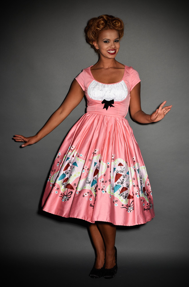 Magic of Mary Blair Evelyn Dressin Umbrella Print by Pinup girl clothing at Deadly is the Female