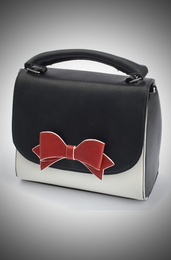 Lola Ramona Vintage bag in black and white at Deadly is the Female