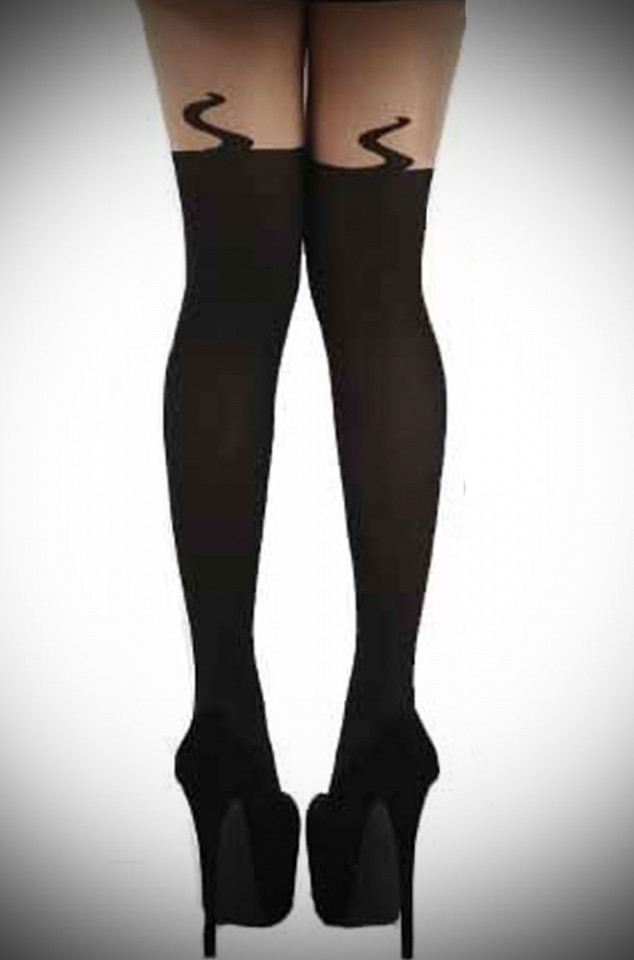 Over the Knee sock style kitsch cat tights