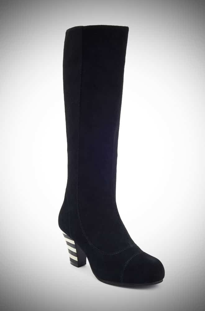 Lola Ramona Elsa Black Knee High boots - instant vintage style at Deadly is the Female