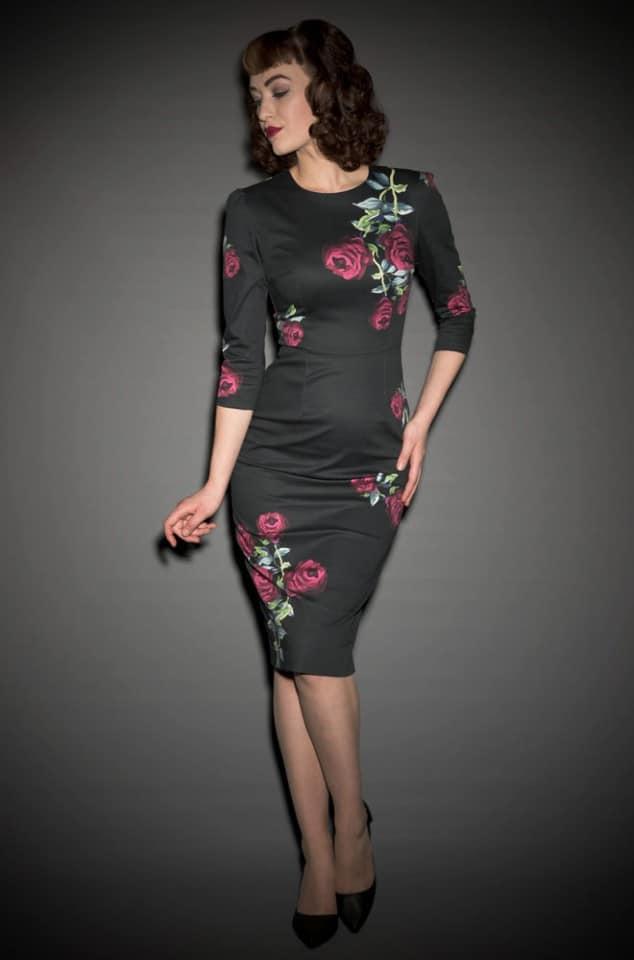 Vintage Rose Wiggle Dress