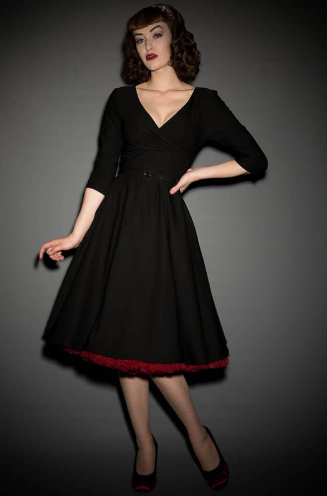 The Black Erin Swing Dress is a fab 50's style in a great range of sizes. Deadly is the Female are proud UK stockists of Pinup Girl Clothing House Brands.