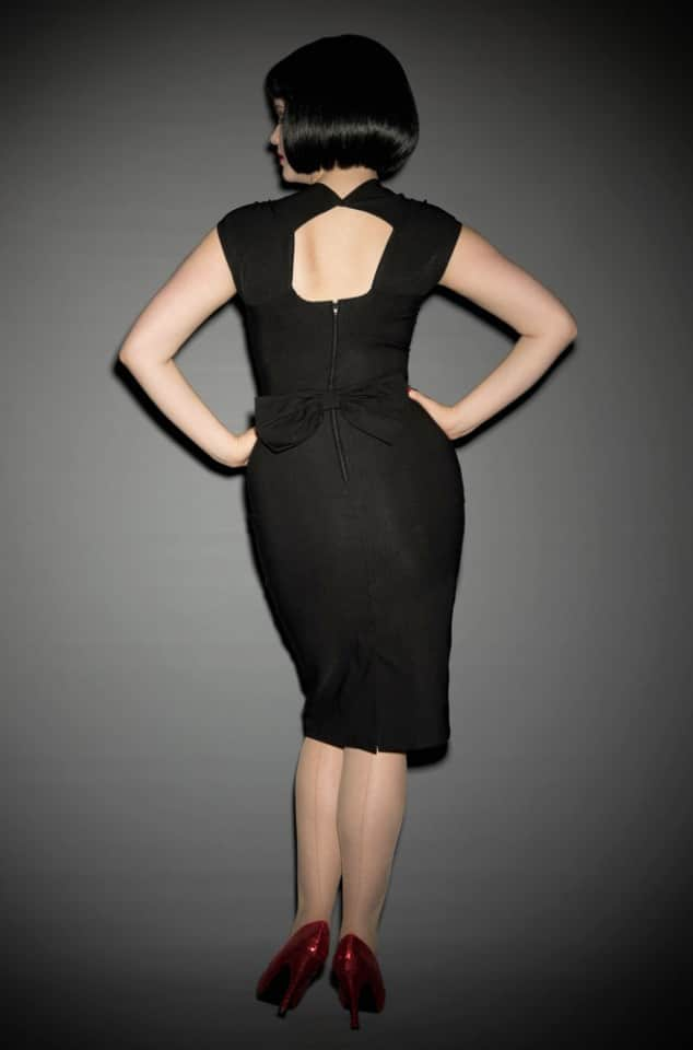 Black Love wiggle dress Stop Staring UK stockist Deadly is the Female