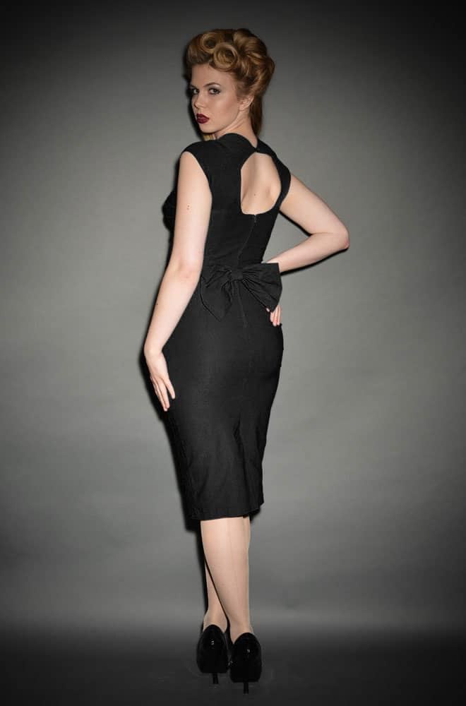 Black Love dress, a vintage style little black wiggle dress - Stop Staring UK stockist Deadly is the Female