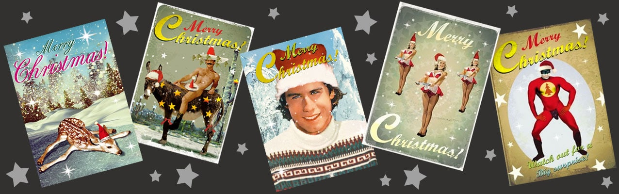 Fun, Cheeky and kitsch Christmas cards at Deadly is the Female