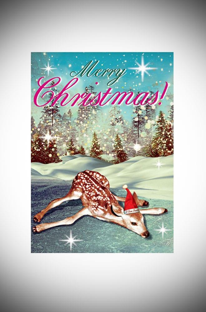 Max Hernn Oh deer Kitsch Christmas card pack