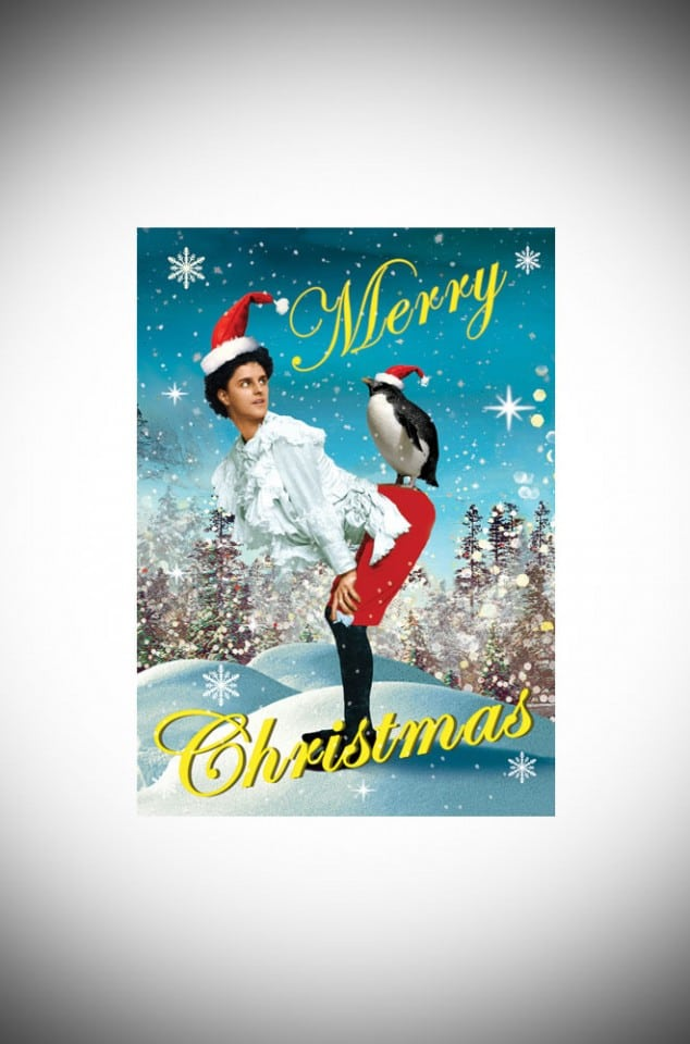 Max Hernn cheeky penguin Kitsch Christmas card pack