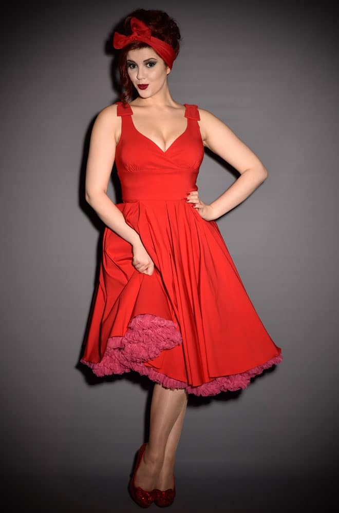 Ascot 1950s style Red Swing dress by The Pretty Dress Company ...