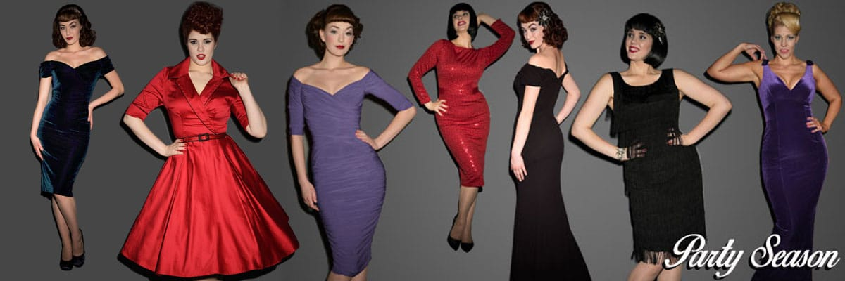 Party Dresses by Pinup Girl Clothing, Stop Staring, The Pretty Dress Company, Tatyana, Trashy Diva and more!