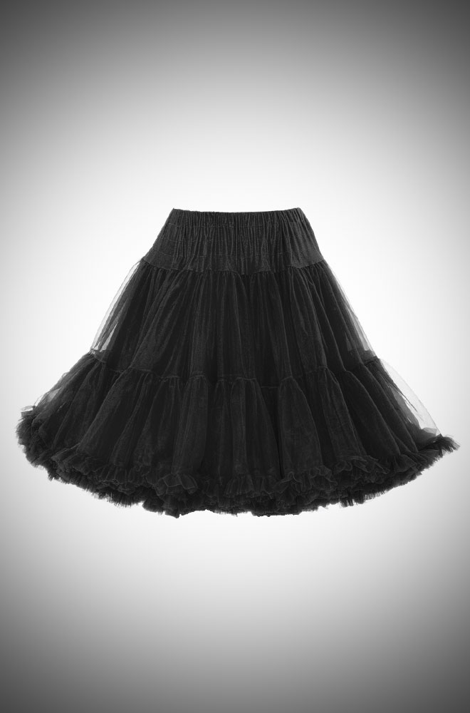 Jennifer 1950's style black chiffon petticoat - perfect for pinup swing dresses!
