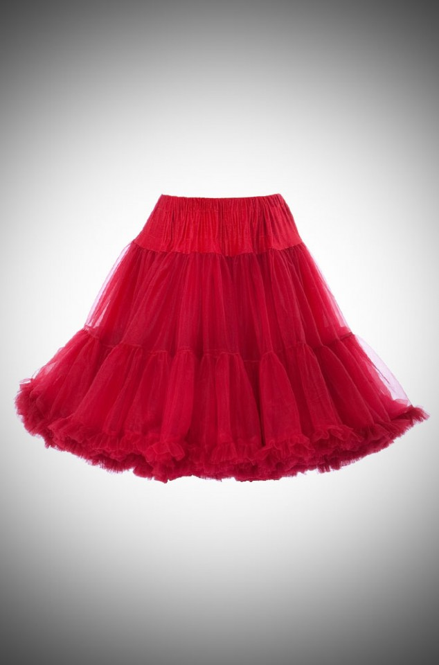 Jennifer 1950's style red chiffon petticoat - perfect for pinup swing dresses!