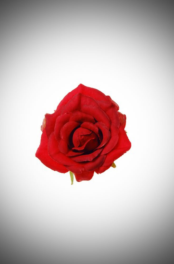 Vintage style pinup Scarlet Red Rose Hair clip and brooch