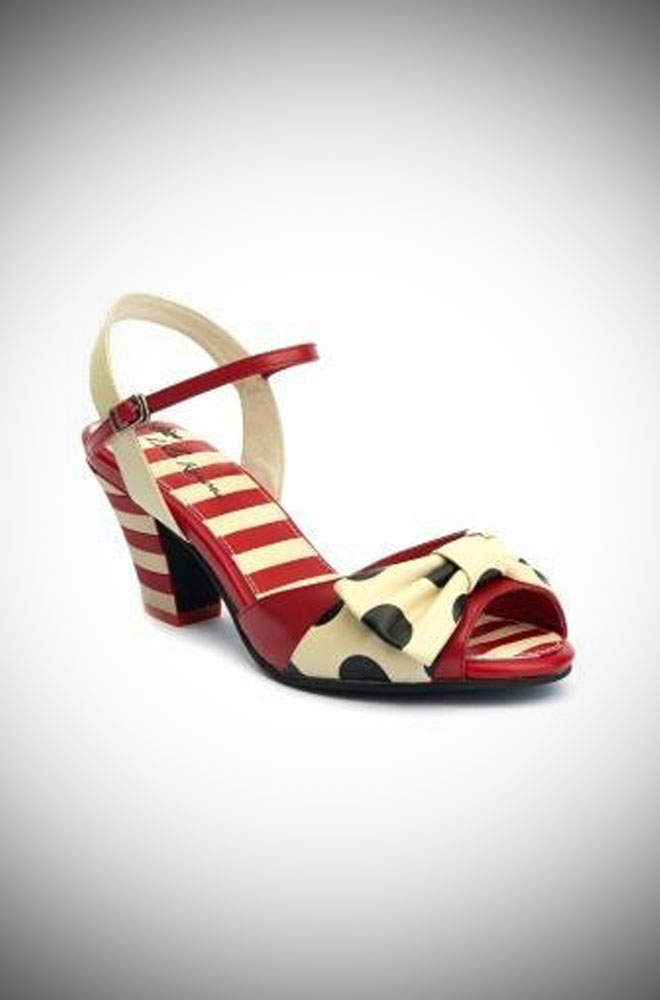 Lola Ramona Elsie Sandals. Vintage style summer shoes at Deadly is the Female
