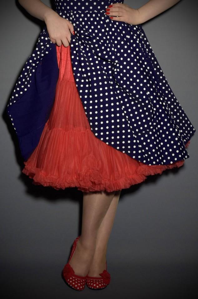 Jennifer 1950's style red chiffon petticoat
