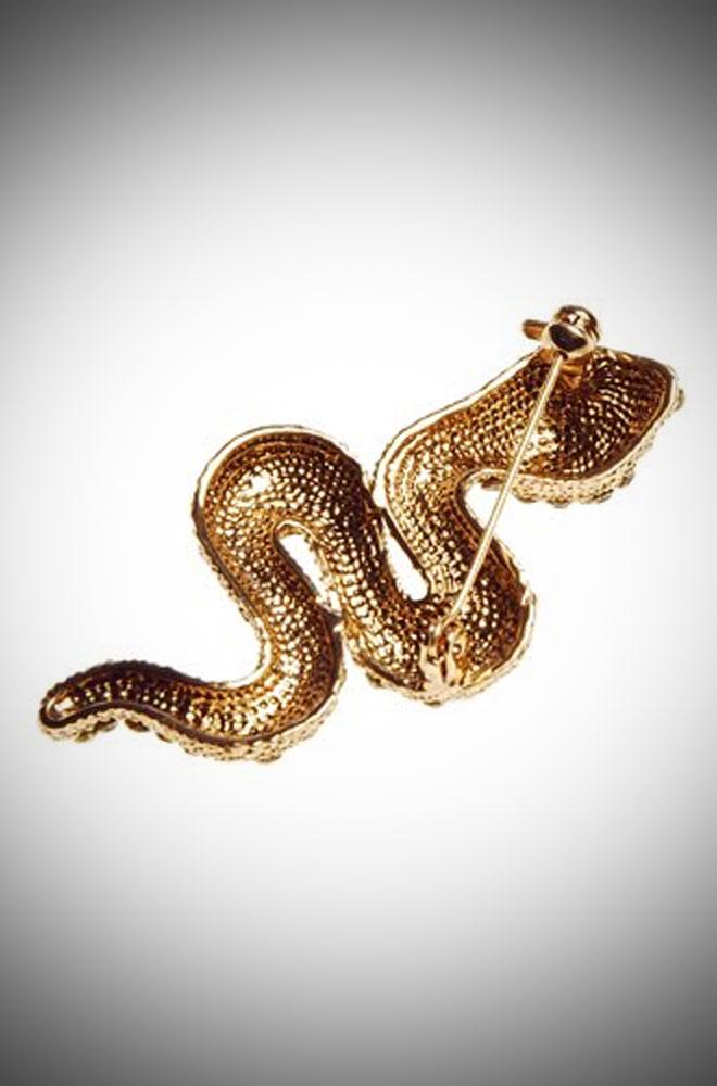 Vintage inspired Iridescent Pewter Snake Pinup brooch