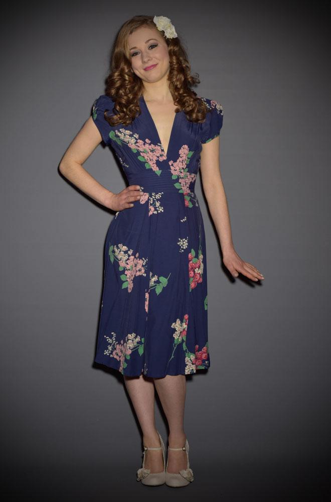 Crimson Clover Ashley Dress - a 40's style Tea Dress by Trashy Diva at Deadly is the Female