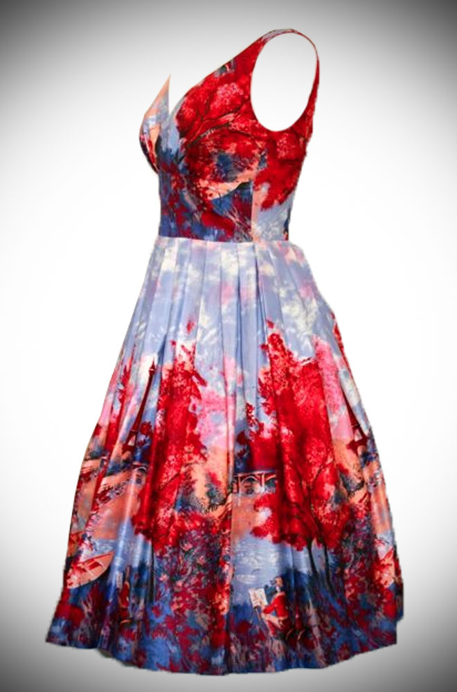 Introducing the Elizabeth 50's style Paris Print dress, a perfect summer dress!