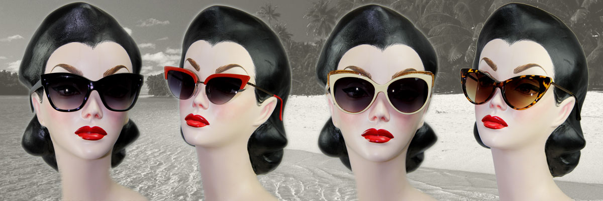 50's retro vintage inspired sunglasses - perfect for pin ups.