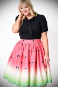 Get fresh and fruity this summer with the gorgeous new 50's Watermelon Skirt by Unique Vintage at Deadly is the Female