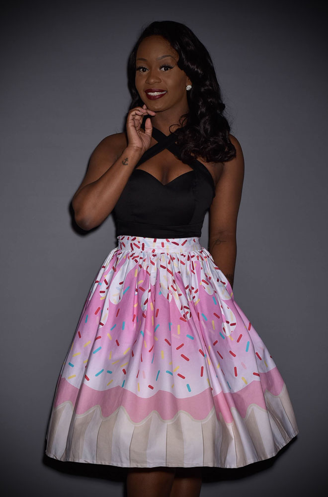 Get fresh and fruity this summer with the gorgeous new 50's Cupcake Skirt by Unique Vintage at Deadly is the Female