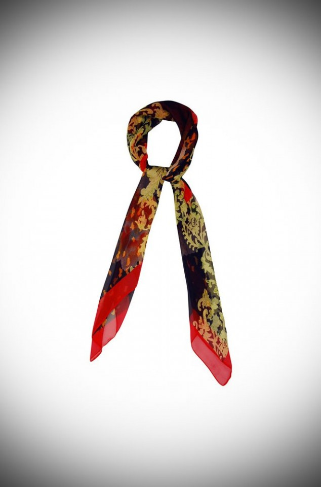 Roses Neckerchief - a beautiful floral rose printed scarf.