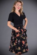 Thelma Skirt - a pretty floral 40's style skirt with large patch pockets at Deadly is the Female. Vintage inspired Femme Fatale Fashion.