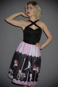 We adore the whimsical charm of the novelty print on this hight waisted 50's Carousel Skirt. New in from Unique Vintage at Deadly is the Female