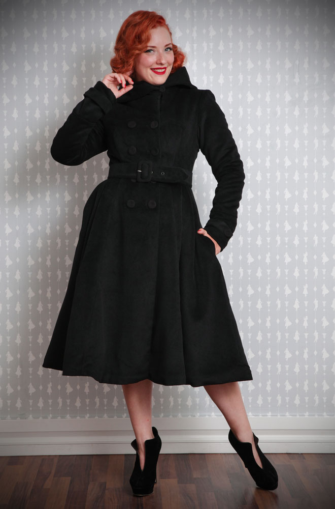 Wrap up warm in style this winter with this stunning Swing Coat by Miss Candyfloss at UK stockists, Deadly is the Female.