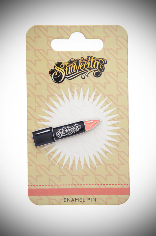 Show off your passion and love for Suavecita with this super cool Cita Lipstick Enamel Pin! Deadly is the Female are proud UK stockist of Suavecita Pomade.